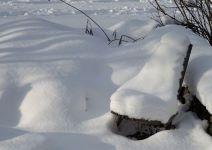 feuerstelle im schnee