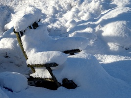 deck chair im schnee