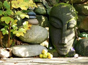Mit den Energieschwingungen des Gartens in Harmonie